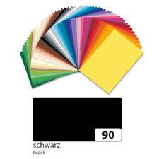 Tonpapier 130 g/qm 50x70 cm, Schwarz, 1 Bogen