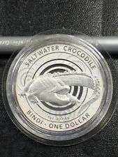 2013 Australia Zoo - Bindi Crocodile - One Ounce Silver Frosted $1  In Capsule