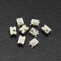 50PCS SMD 4Pin 3X4X2.5MM White Tactile Tact Push Button Micro Switch Momentary