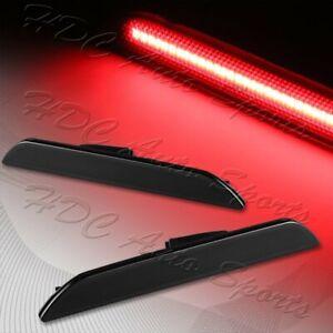 For 2015-2020 Ford Mustang Smoke Lens LED Rear Bumper Side Marker Lights Lamp