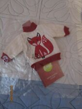 New listing New Food Network Wine Bottle Cover Knit Sweater w Fox In Red & White Kohls