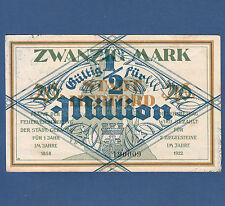 HERFORD 1/2 Million auf 20 Mark (1923) II / XF