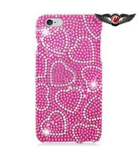 Apple iPhone 6/6S Plus 5.5 - Full Diamond Case Hot Pink Heart With Hot Pink 308