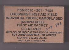 SET OF 3 EMPTY USA VIETNAM WAR SMALL FIELD DRESSING BOXES (REPRO)
