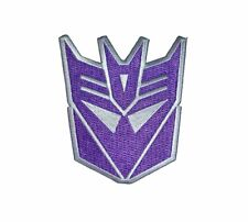 """Transformers Decepticon Head Iron-On Patch 3 3/4"""" x 3"""" Licensed Whatever Comp."""