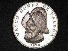 PANAMA 1978 1 Balboa 75th Anniversary Silver Crown Proof