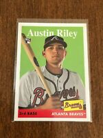 2019 Topps Archives Baseball Rookie Card - Austin Riley RC - Atlanta Braves