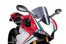 PUIG Dark Smoke/Tint Racing Screen/Windshield: DUCATI 1199/899 PANIGALE (5990F)