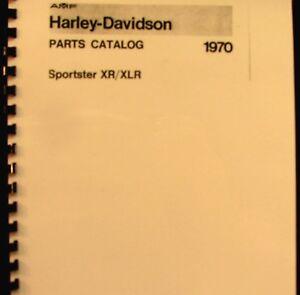1970 AMF Harley-Davidson Sportster Parts Catalog   XR--XLR Illustrated