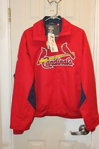 St. Louis Cardinals stitched Majestic full-zipper ladies Therma-base jacket - XL