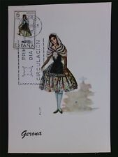 SPAIN MK 1968 TRAJES GERONA TRACHT COSTUME MAXIMUMKARTE MAXIMUM CARD MC CM c6086