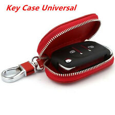 Universal Car PU Leather Smart Remote Key Holder Bags Cases Fob Red / Black