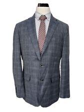 Joseph Abboud Linen & Wool Blue Sport Coat Blazer 42L