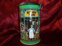 Vintage continental The Old Market Tin / Storage Container with airtight lid
