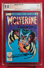 WOLVERINE LIMITED SERIES #2 PGX 9.0 VF/NM signed MILLER, CLAREMONT +1!!! +CGC!!!