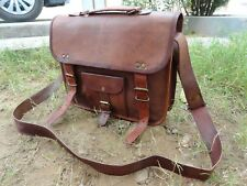 Genuine Leather Satchel Messenger 13 In Laptop Briefcase School Crossbody Bags
