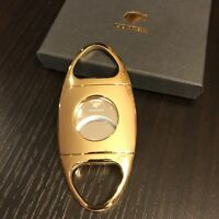 Cohiba Gold Premium Stainless Steel  Double Blade Guillotine Cigar Cutter