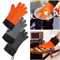 1paire Gant anti-chaleur Silicone manique cuisson BBQ mitaines Outil cuisine