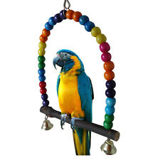Multicolor Parrot Swing Hanging Cockatiel Parakeet Pet Cockatoo Toys Swing Frame