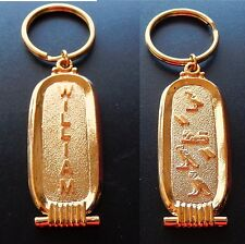 WILLIAM  Egyptian Name Keychain / English Name / Ancient Hieroglyphs : WILLIAM