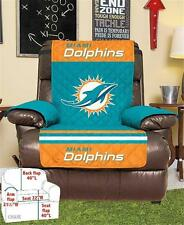 MIAMI DOLPHINS NFL FOOTBALL TEAM ARMCHAIR RECLINER FURNITURE PROTECTIVE COVER