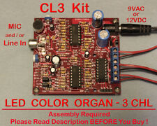 3 Channel LED Color Organ Kit - Light Organ Responds to Sound - 12V Safe