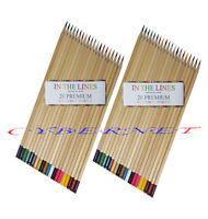 40 Premium Colouring Pencils Pack Adult Kids School Art Craft Colour Coloured