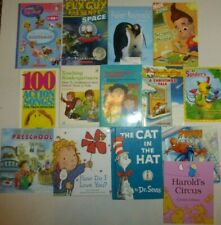 14 Lot Young Childrens Books,Cat In the Hat,Spider Man,Preschool Songs,Science+