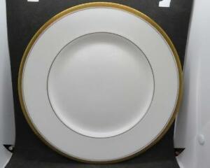 "Coalport Elite Gold Stunning 10.5"" Gold Edged White China Dinner Plate/Charger"