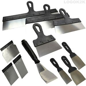 Filling Knife Set Stainless Steel Spatula Paint Scraper Decorate Putty Spreading
