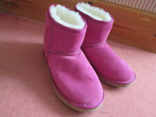 Genuine Fuschia Pink Suede sheepskin boots by Peter Alexander New Size 3 (36)
