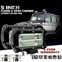 "2x 5"" 10800LM 72W LED Work Light Bar Spot Flood Light Beams Combo For SUV Truck"