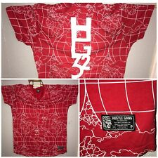 HUSTLE GANG T SHIRT mens 3XL Red World Wide Money Map 32 Short Sleeve Shirt