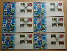 Malaysia 1994 ASEANPEX Overprint Stamps complete 6 FDC Exhibition Cachet (rare)