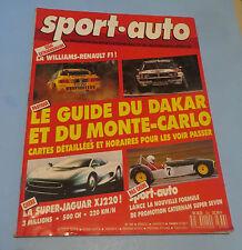 JANVIER 1990 NO.336 SPORT-AUTO MAGAZINE FRANCE IN FRENCH DAKAR AND MONTE-CARLO