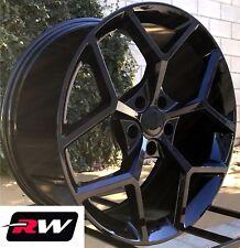 "20"" inch Chevy Camaro Wheels Gloss Black Z28 Rims 20x9"" 5x120 +30 offset 2010-18"