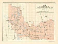 Map, Reservoir, Cache La Poudre Valley, Ft. Collins Colorado, 1901 Antique Print