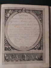 M Tableau titre poids monnaies 1807 Geneve numismatica monete banche bank tavole