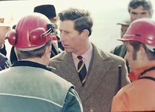 PRINCE CHARLES in the Oil Spill in West Wales - Original 35mm COLOR Slide