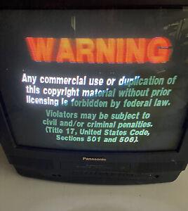 "Panasonic Omnivision PV-C2062 20"" TV VHS player Retro Gaming Tested"
