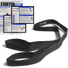 Cheerleading Stunt Strap Band Flexibility Stretching (Black) Sports & Fitness