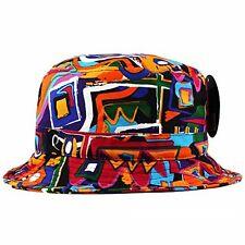 Kente African Print Bucket Hat 5 Panel snapback aztec NEW