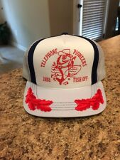 VTG NOS 1988 Telephone Pioneers FISH OFF Mesh Snapback Trucker Hat Baseball Cap