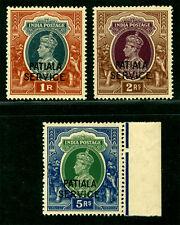 INDIA 1943 PATIALA K.George VI - OFFICIAL high values set Scott# O74-76 mint MNH