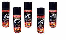 5x 200 ML Stove Spray Heat Proof Ultra High Temperature Matt Black Aerosol Paint