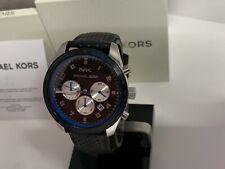 Michael Kors Men's Keaton Chronograph Leather Strap Watch MK8706 NEW IN BOX!!