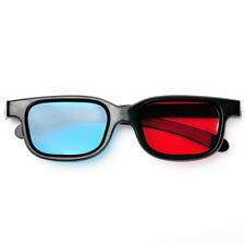 2 Pair 3D GLASSES Black Frame Red Blue For Dimensional Anaglyph Movie Game