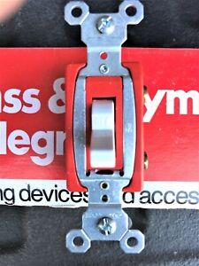 White 20 amp Single Pole Switch (box of 10) Pass and Seymour