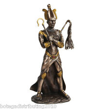 OSIRIS FIGURINE ANCIENT EGYPTIAN GOD AFTERLIFE UNDERWORLD STATUE BRONZELIKE