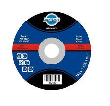 Disco de Corte 125 x 1 mm para Metal y Acero Artículo de Marca 100 Unidades